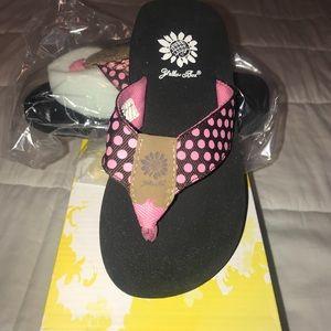 Little girls Yellow Box Flip flop
